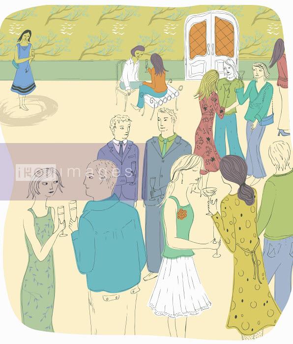 Trina Dalziel - Shy woman on own at party