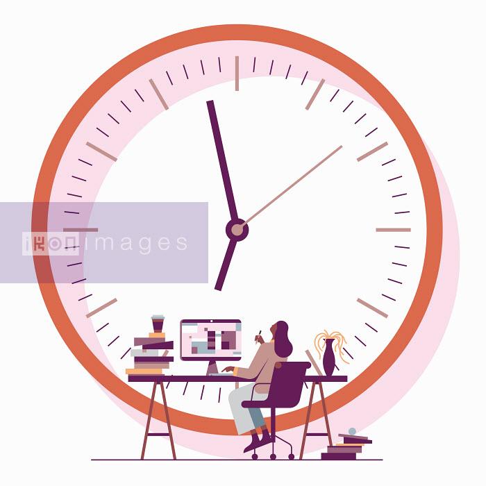 Jamie Jones - Office worker waiting for 5 o'clock
