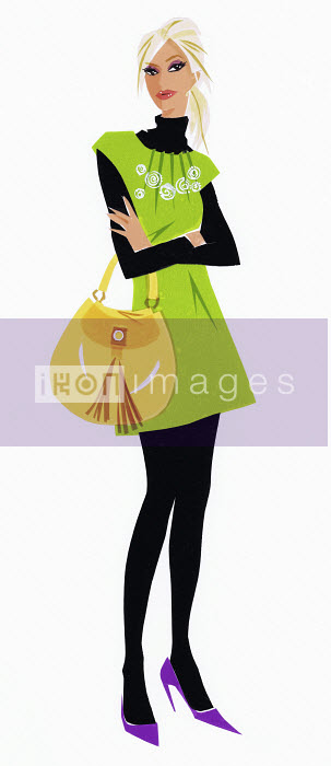 Trendy woman with arms folded Jacqueline Bissett