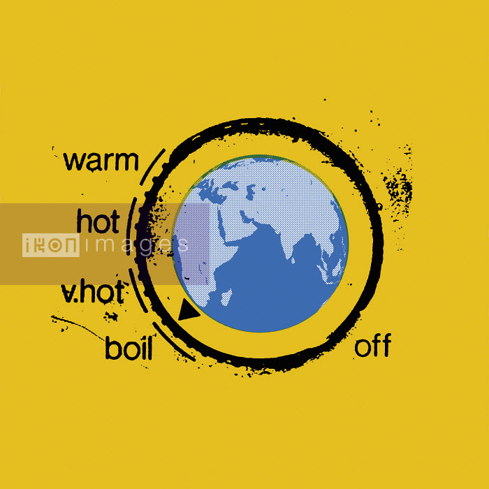 Ikon Images/Otto Dettmer - Planet earth as heating thermostat