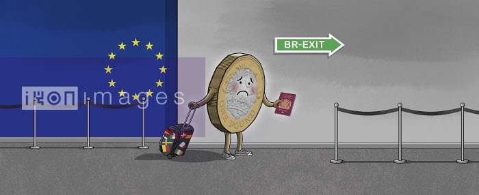 Dan Mitchell - British pound coin at airport unhappy about Brexit