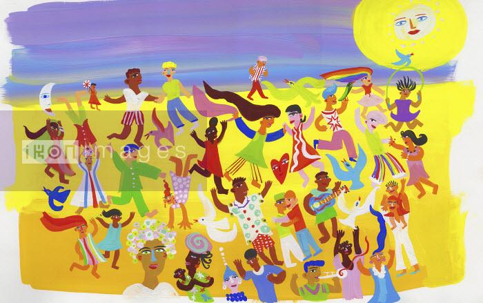 Christopher Corr - People having fun dancing on beach