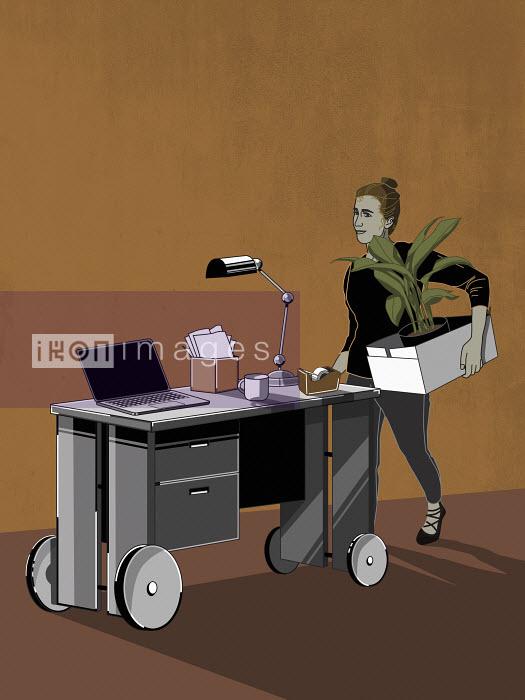 Office worker moving between jobs Fergs