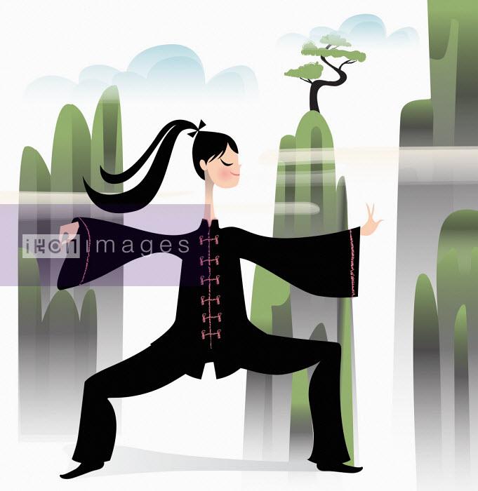 Nila Aye - Woman practising Tai Chi