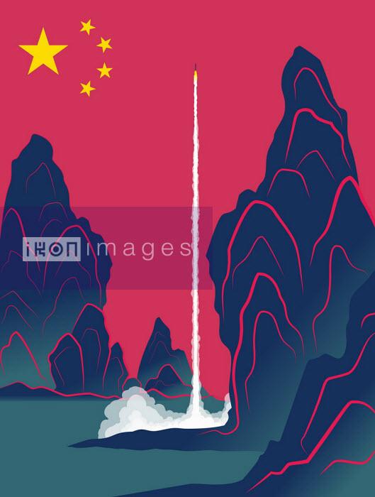 Chinese rocket launching Josh McKible