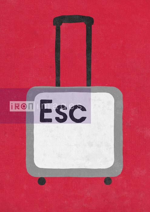 Sergio Ingravalle - Escape key as suitcase