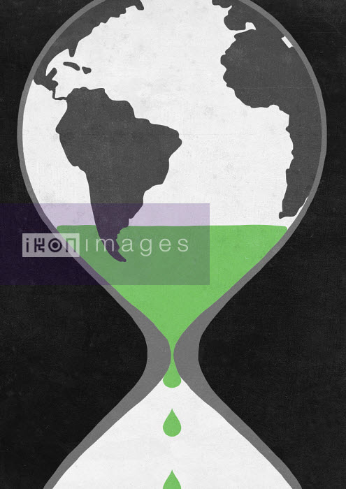 Sergio Ingravalle - Time running out for the world inside of hourglass