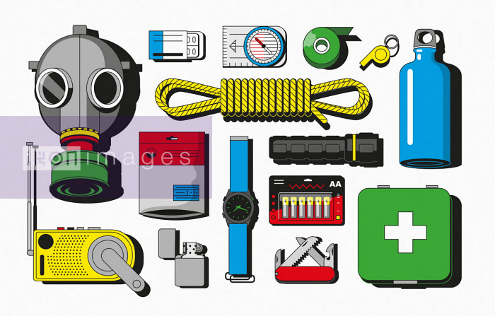 Harry Haysom - Items in emergency survival kit