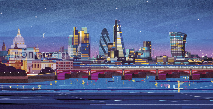 James Boast - London cityscape at night