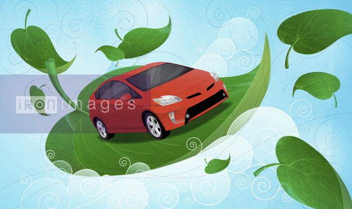 Huan Tran - Car floating among green leaves