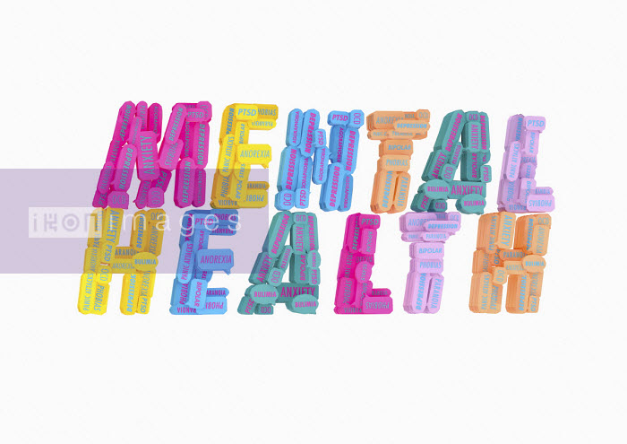 Ben Miners - Lots of different mental health issues forming the words Mental Health