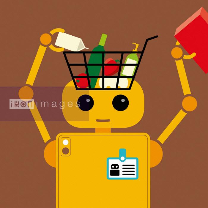 Patrick George - Robot filling shopping basket