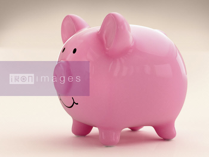 Happy fat piggy bank - Ian Cuming