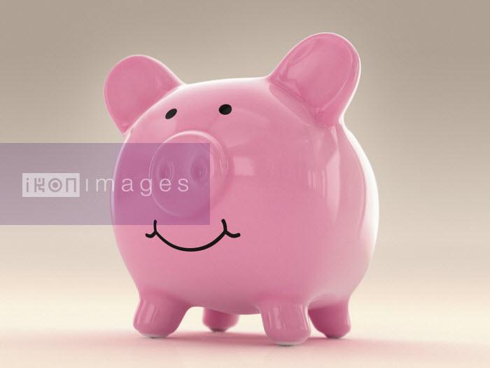 Happy fat piggy bank - Ian Cuming