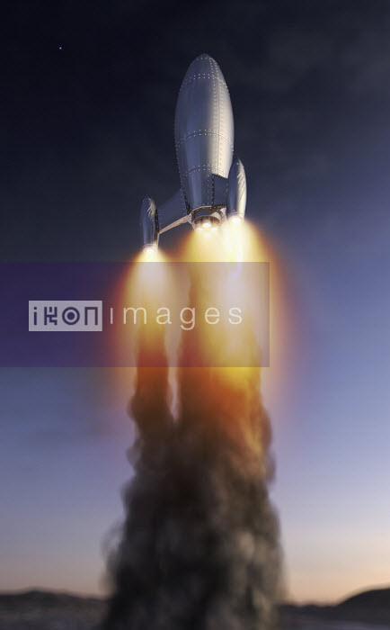 Rocket blasting off - Ian Cuming
