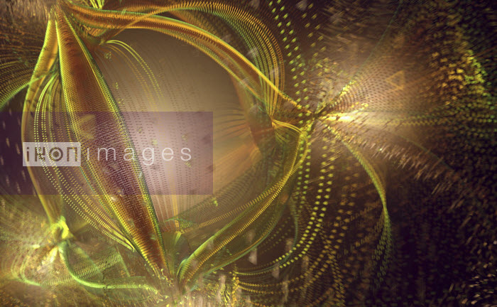Chaotic tangled abstract pattern Ian Cuming