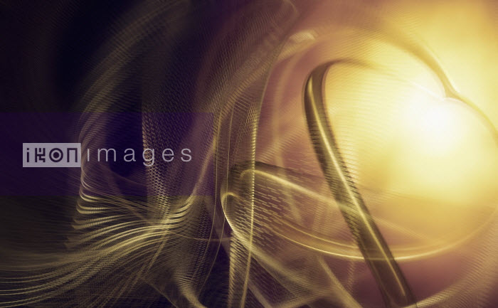 Swirling blurred motion golden abstract pattern Ian Cuming