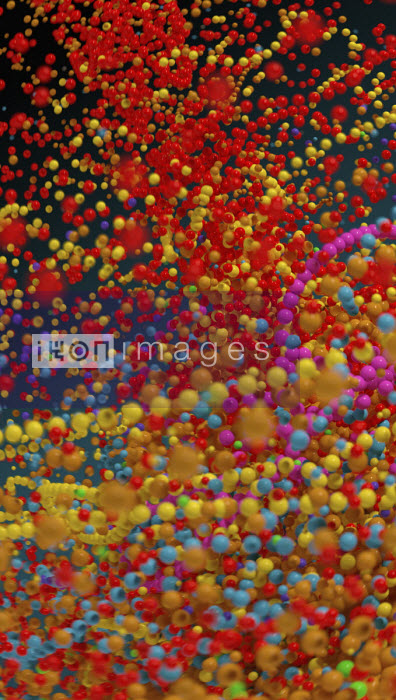Lots of multi coloured bouncing beads - Ian Cuming