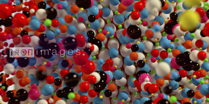 Ian Cuming - Full frame abstract backgrounds pattern of multi coloured balls