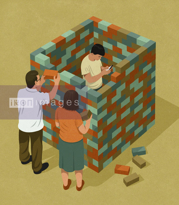 John Holcroft - Parents building brick wall around son obsessed with social media