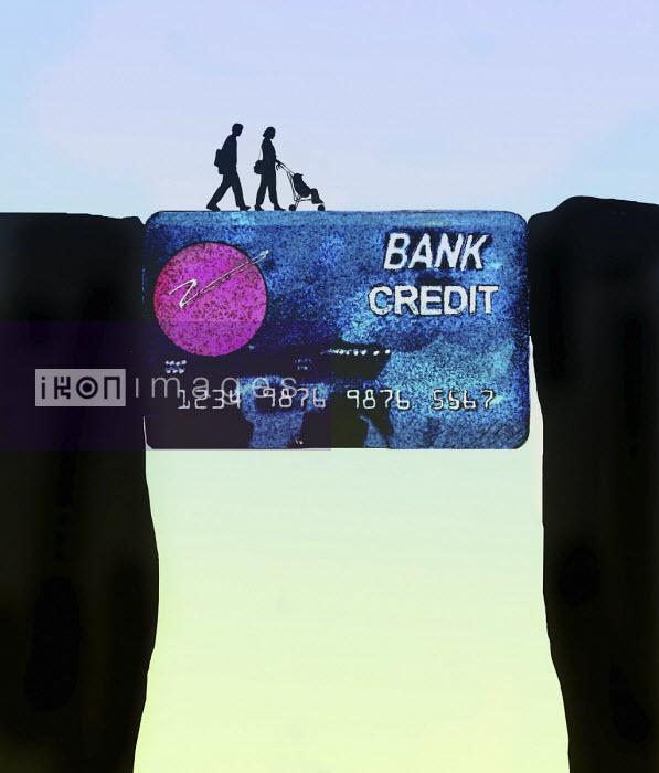 Family using credit card to bridge the gap Gary Waters