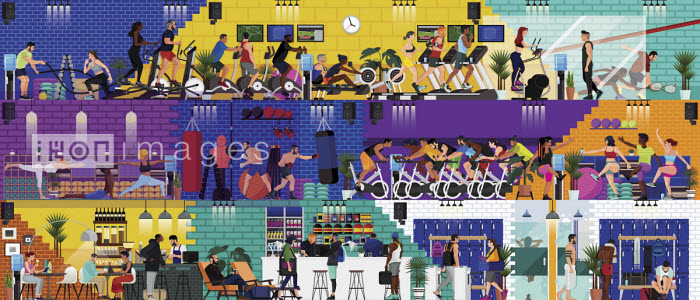James Boast - Montage of lots of different activities in busy gym