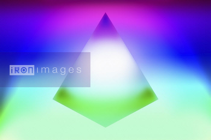 Pyramid and bright neon colour abstract Vicky Vougiouka