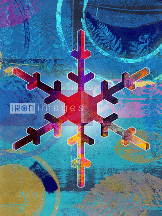 Roy Scott - Colourful snowflake in abstract pattern
