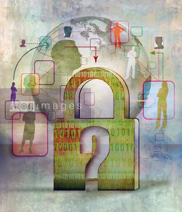 Roy Scott - Question mark over locked padlock on global communications network