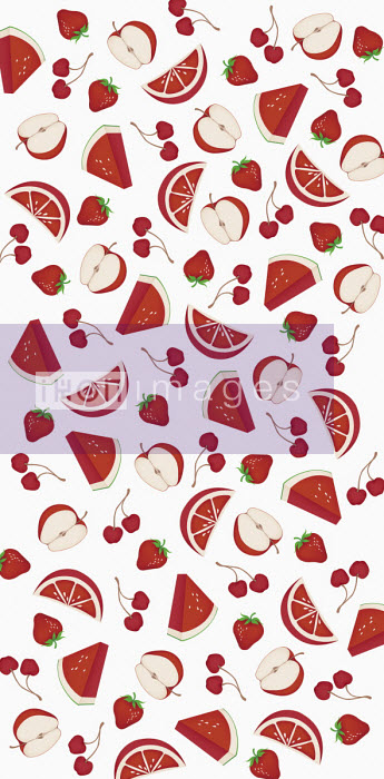 Full frame pattern of red fruit Wai