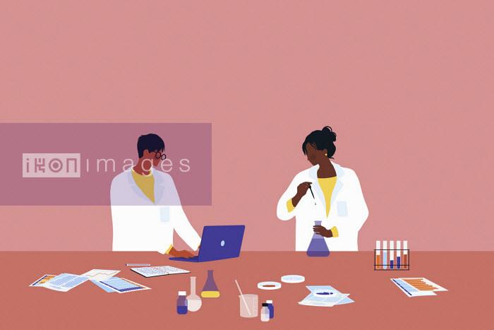 Alice Mollon - Researchers in science laboratory