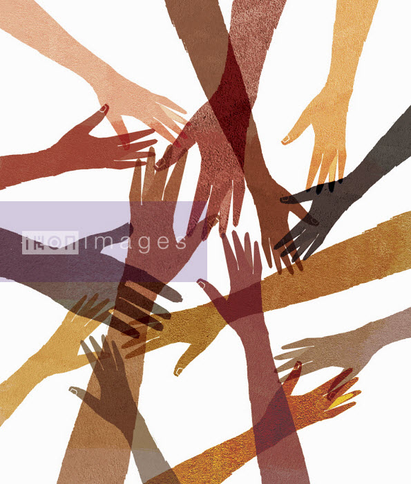 Donna Grethen - Overlapping outstretched hands