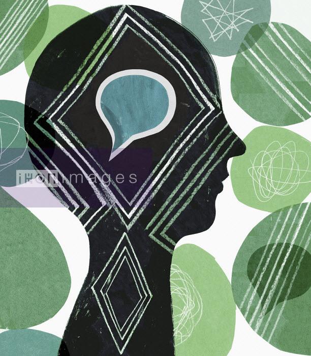 Speech bubble inside of head - Donna Grethen