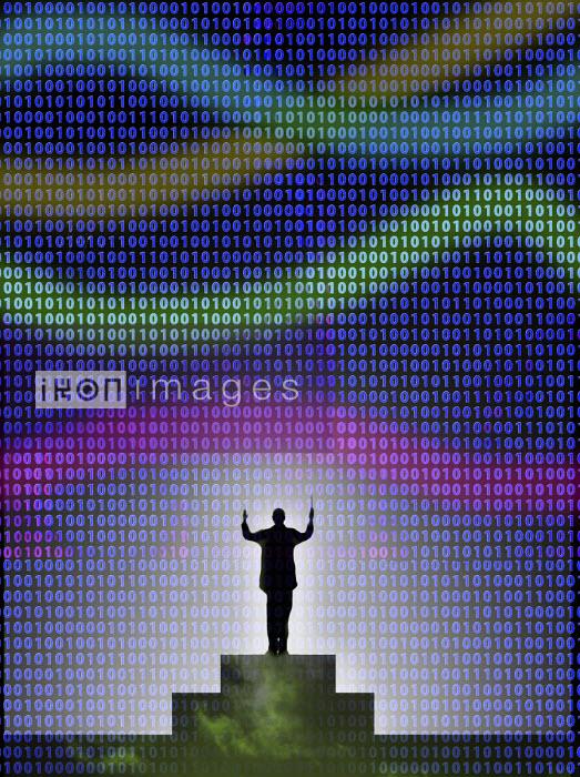 Conductor conducting binary code - Gary Waters