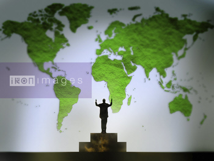 Gary Waters - Conductor conducting green world map