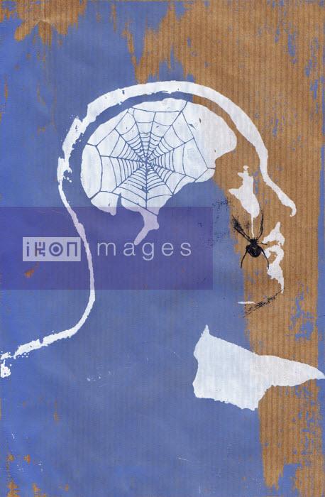 Katie Edwards - Spider making web inside of man's head
