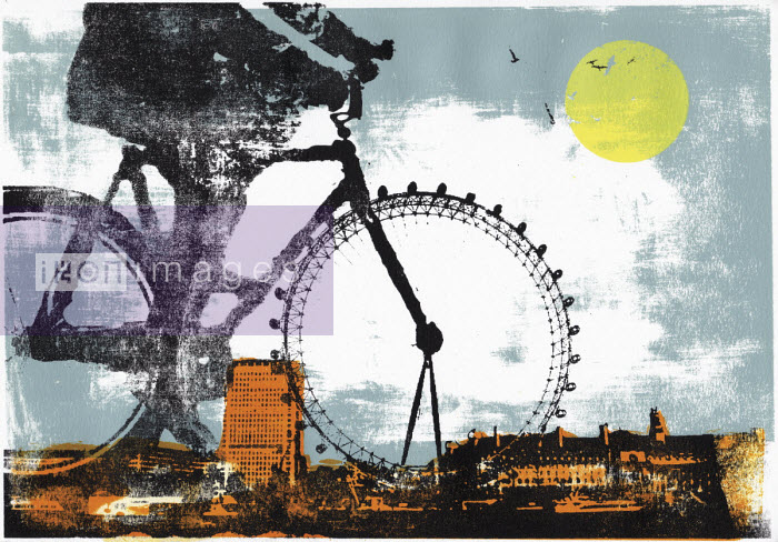Katie Edwards - The London Eye as bike wheel