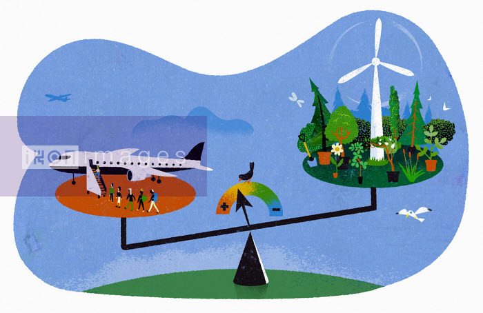 Jens Magnusson - Scales weighing up air travel versus the environment