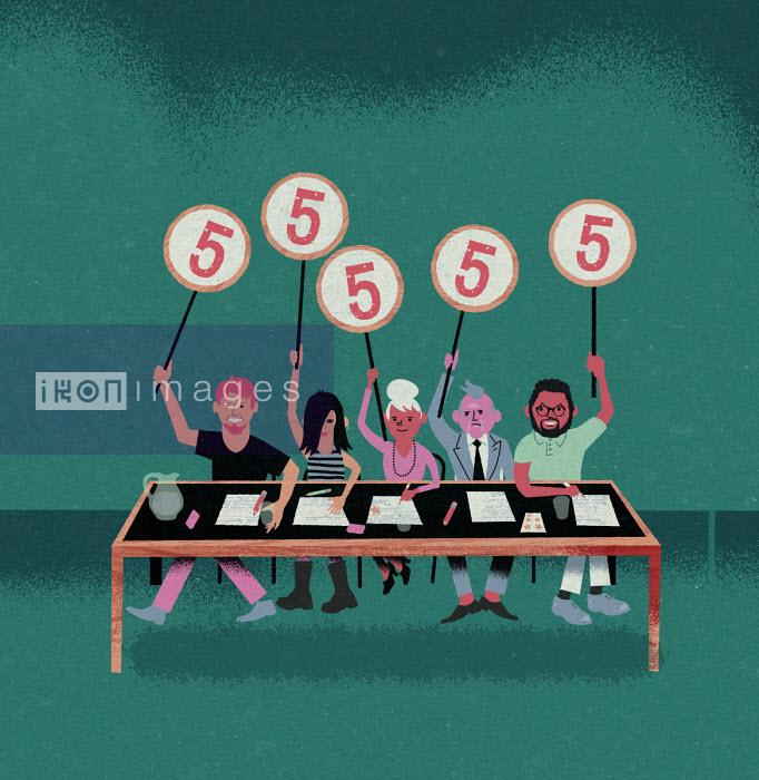 Jens Magnusson - Panel of judges giving same scores