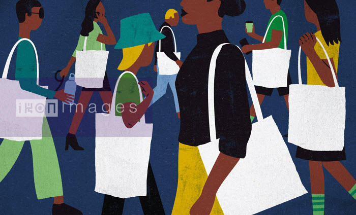 Jens Magnusson - Lots of people carrying tote bags