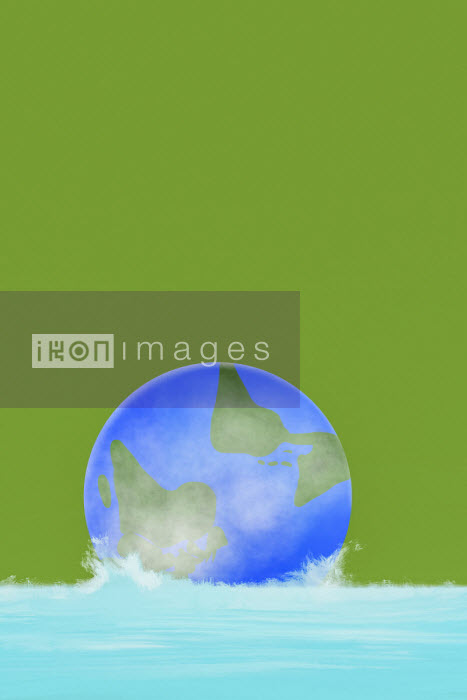 Benjamin Harte - Globe sinking in water