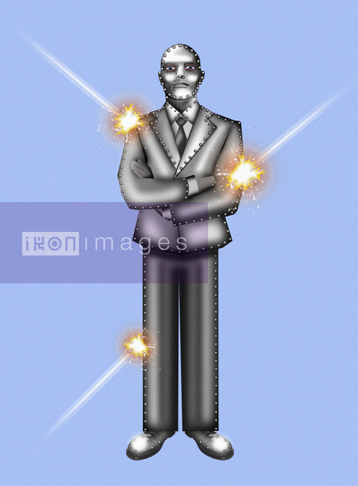 Metal businessman impervious to attack