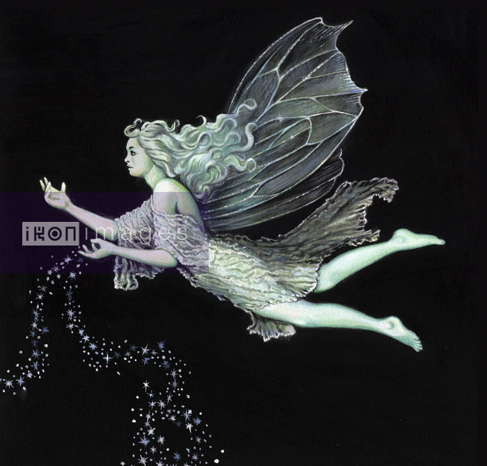 Fairy flying and sprinkling fairy dust