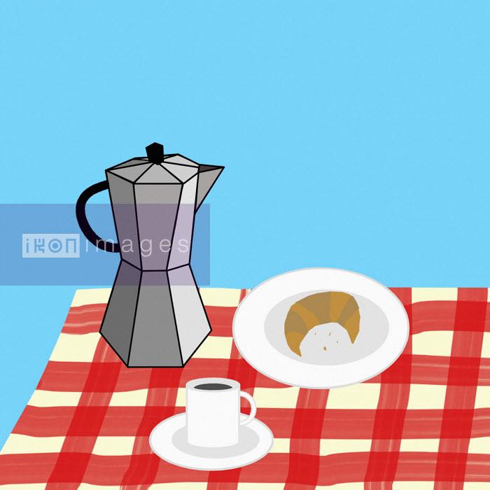 Benjamin Harte - Breakfast on table