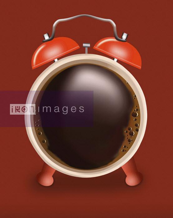 Black coffee as alarm clock