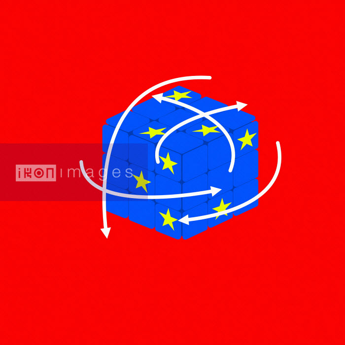 Benjamin Harte - Trying to solve European Union puzzle cube