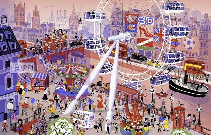 Bjorn Lie - Busy iconic London scene