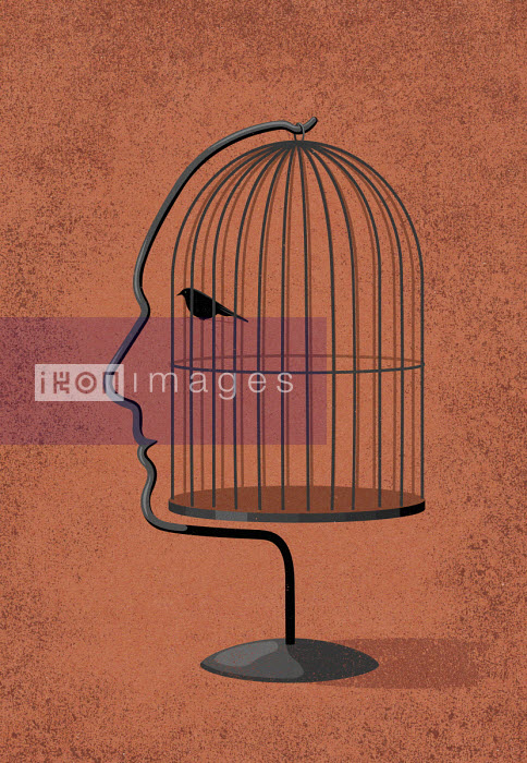 Face shaped birdcage - John Holcroft