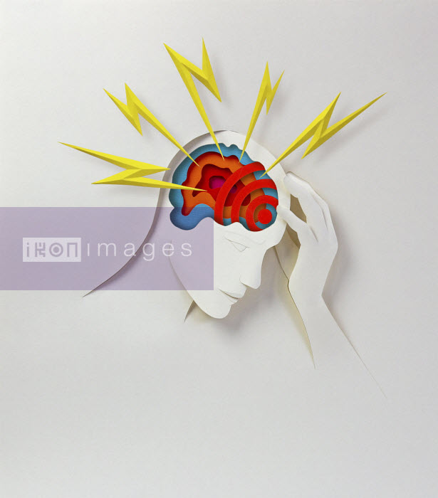 Paper cutout of someone with headache - Gail Armstrong