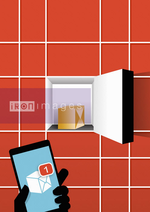 Receiving notification of parcel delivery on smart phone - Tang Yau Hoong